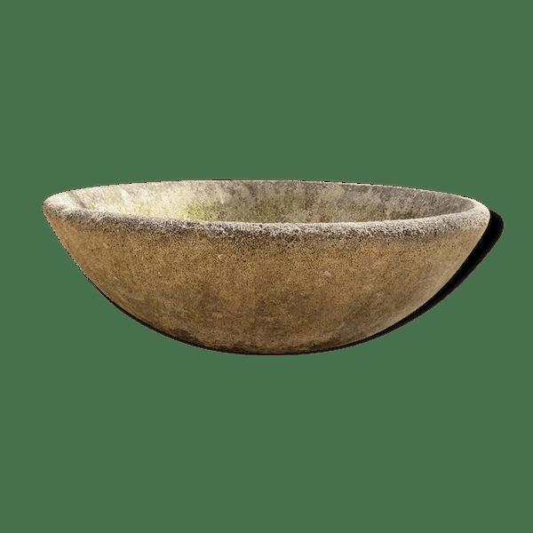 Vasque jardinière en ciment - pierre et plâtre - gris - vintage ...