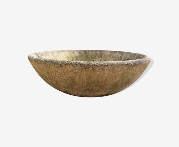 vasque jardini re en ciment pierre et pl tre gris vintage dobj9kx. Black Bedroom Furniture Sets. Home Design Ideas
