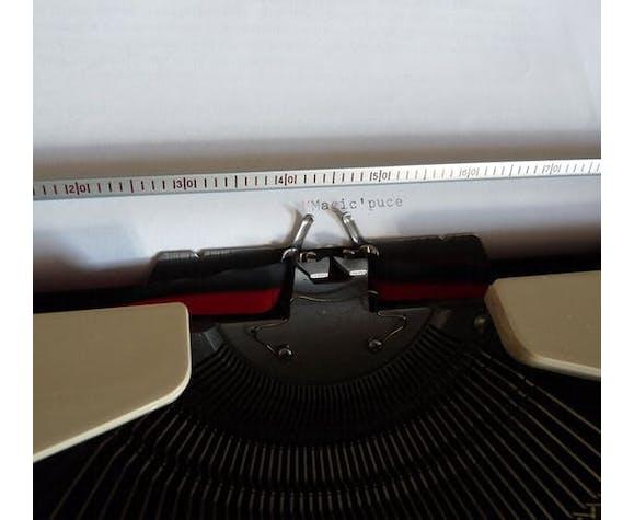 Typewriter vintage Brunsviga with travel case