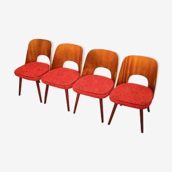 Chaises de salle à manger vintage par Oswald Haerdtl pour Ton des années 1950