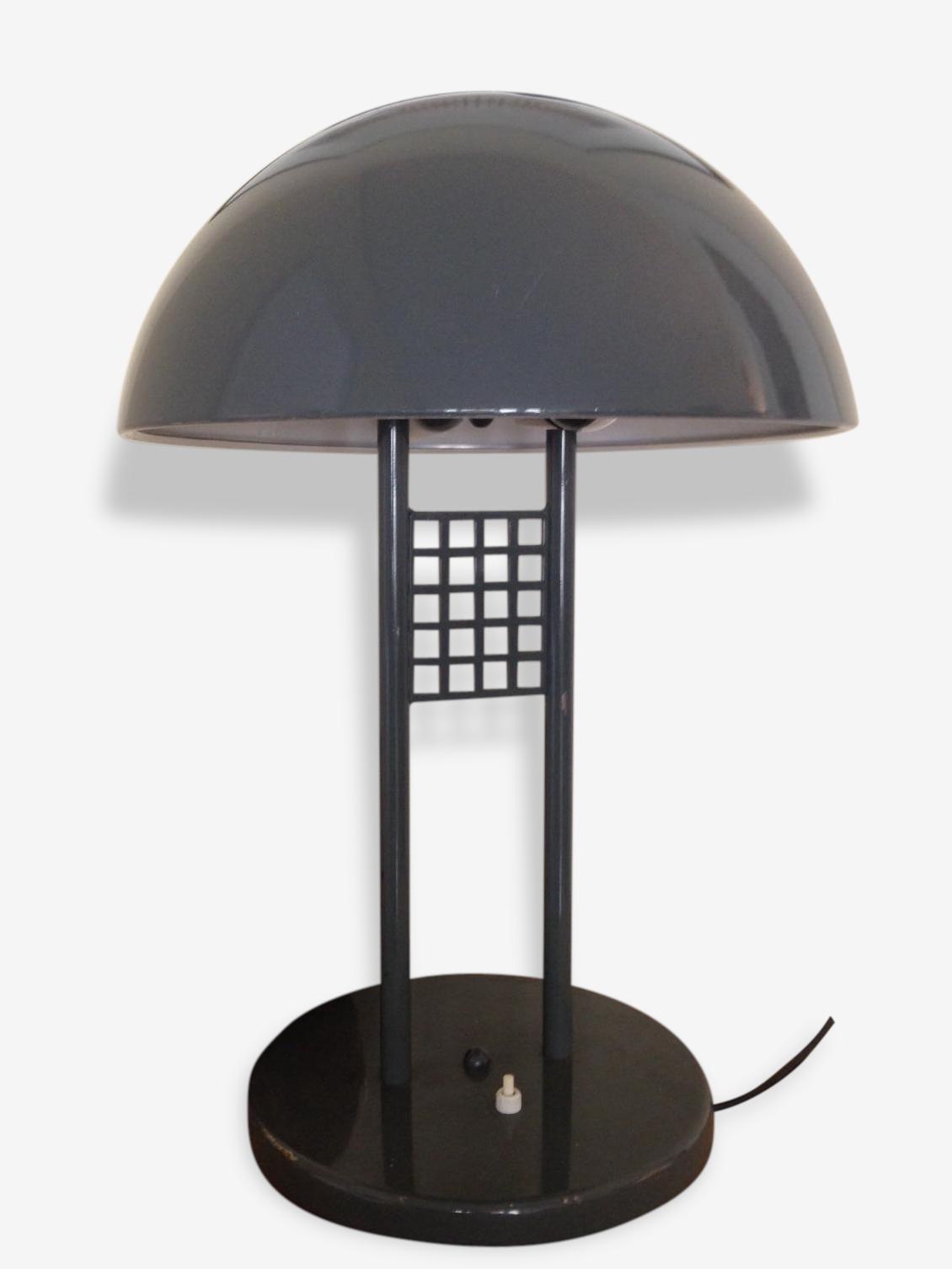 Grande Lampe Champignon Vintage Metal Gris Vintage 49410
