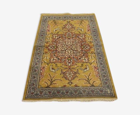 Tapis persan qom iran 80  x 130 cm  1970