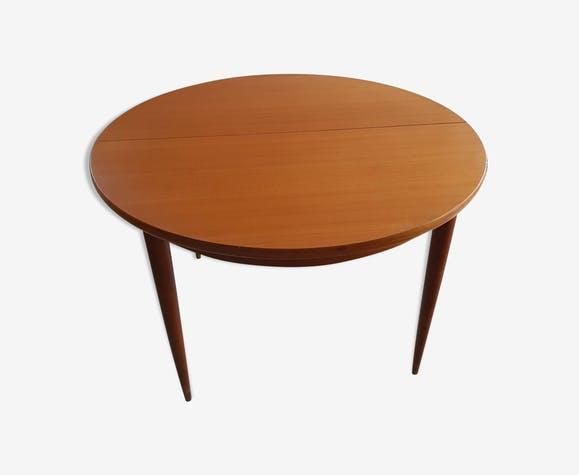 table scandinave en bois exotique massif avec rallonges. Black Bedroom Furniture Sets. Home Design Ideas