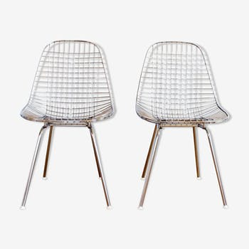 Set of 2 chairs DKX by Charles and Ray Eames for Herman Miller, 1950