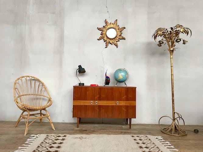 Enfilade bahut meuble tv hifi vintage 50/60 style scandinave avec marqueterie
