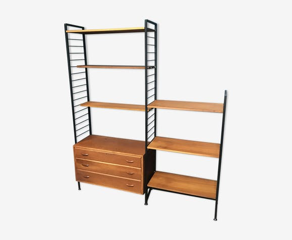 size 40 e0d22 282db 2 bay teak ladderax shelving system by with chest of drawers ...