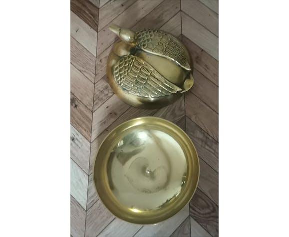 Bonbonnière canard en laiton