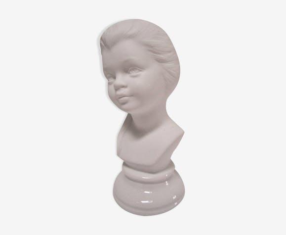 Buste de jeune fille biscuit porcelaine vintage années 60