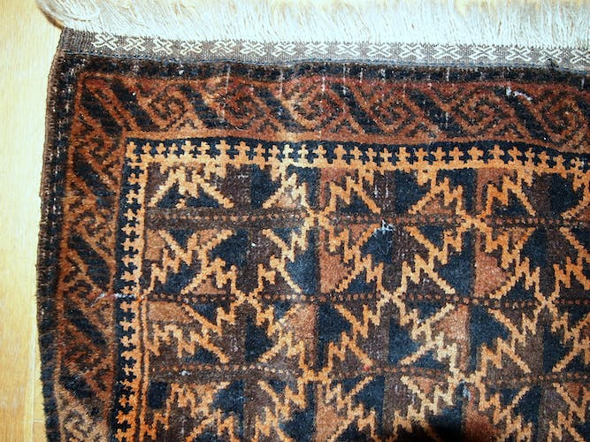 Collectible old carpet Afghan Baluch bag 50cm x 65cm face 1920 s