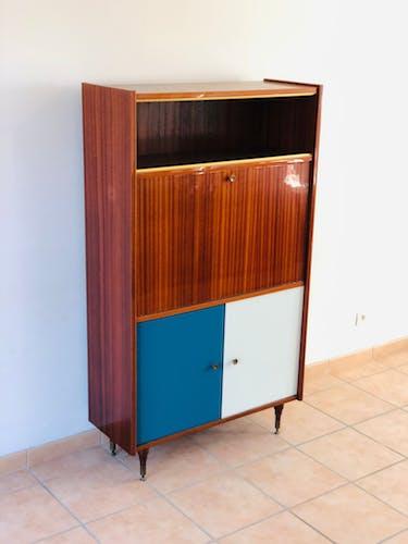 Secrétaire vintage en acajou 1960