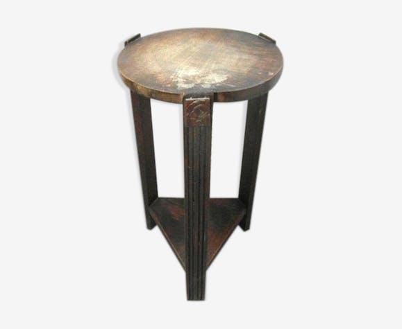 Table de nuit en bois art deco