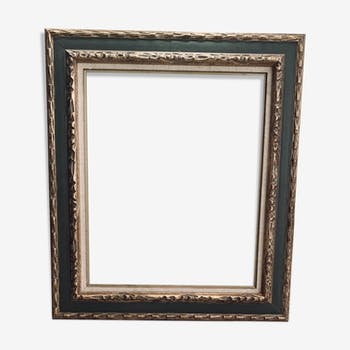 Old frame in gilded sulpté wood with gold leaf