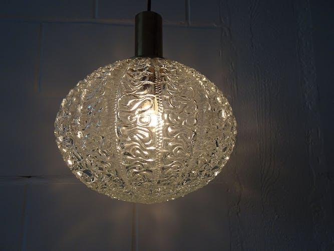 Limburg glass ball suspension lamp 1960s