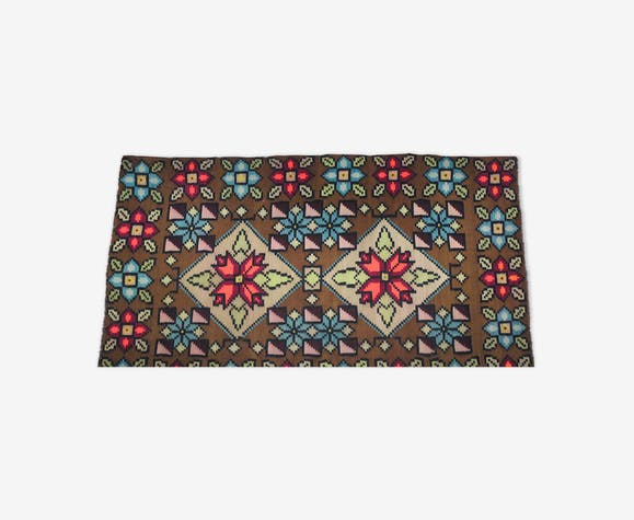 Tapis traditionnel roumain multicolore en laine 240x150cm