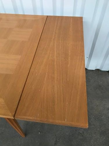 Table à manger en chêne 1950 avec allonges 210cm