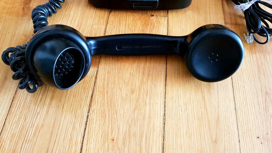 Téléphone vintage noir Kristian Kirks Telefonfabrikker 50's