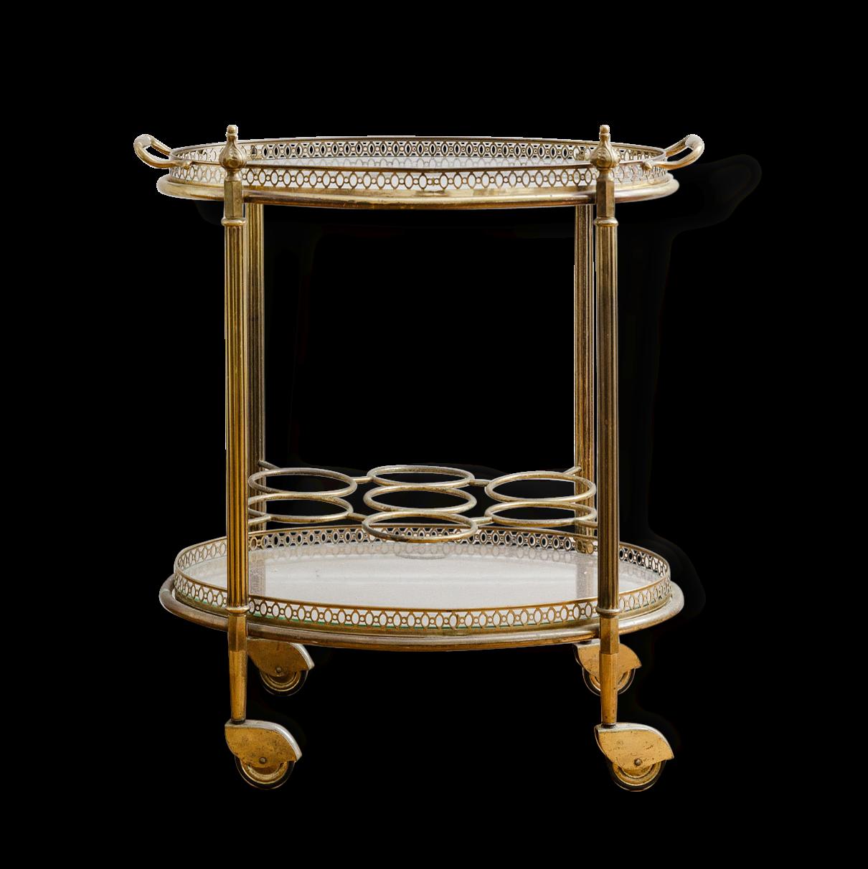 stunning bar desserte roulettes ancienne mtal dor et verre with roulette ancienne. Black Bedroom Furniture Sets. Home Design Ideas