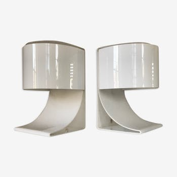 Pair of lamps brother Chabrieres 70s edition