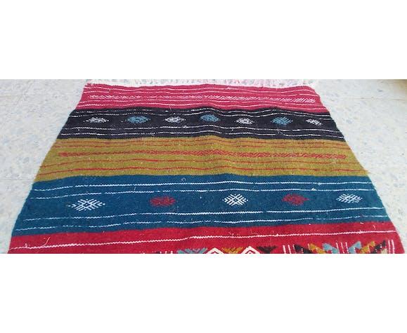Traditional multi-coloured handmade kilim rug in 100-70cm wool
