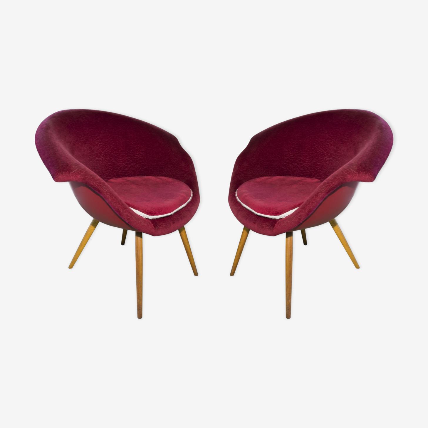 Paire de fauteuils Miroslav Navratil