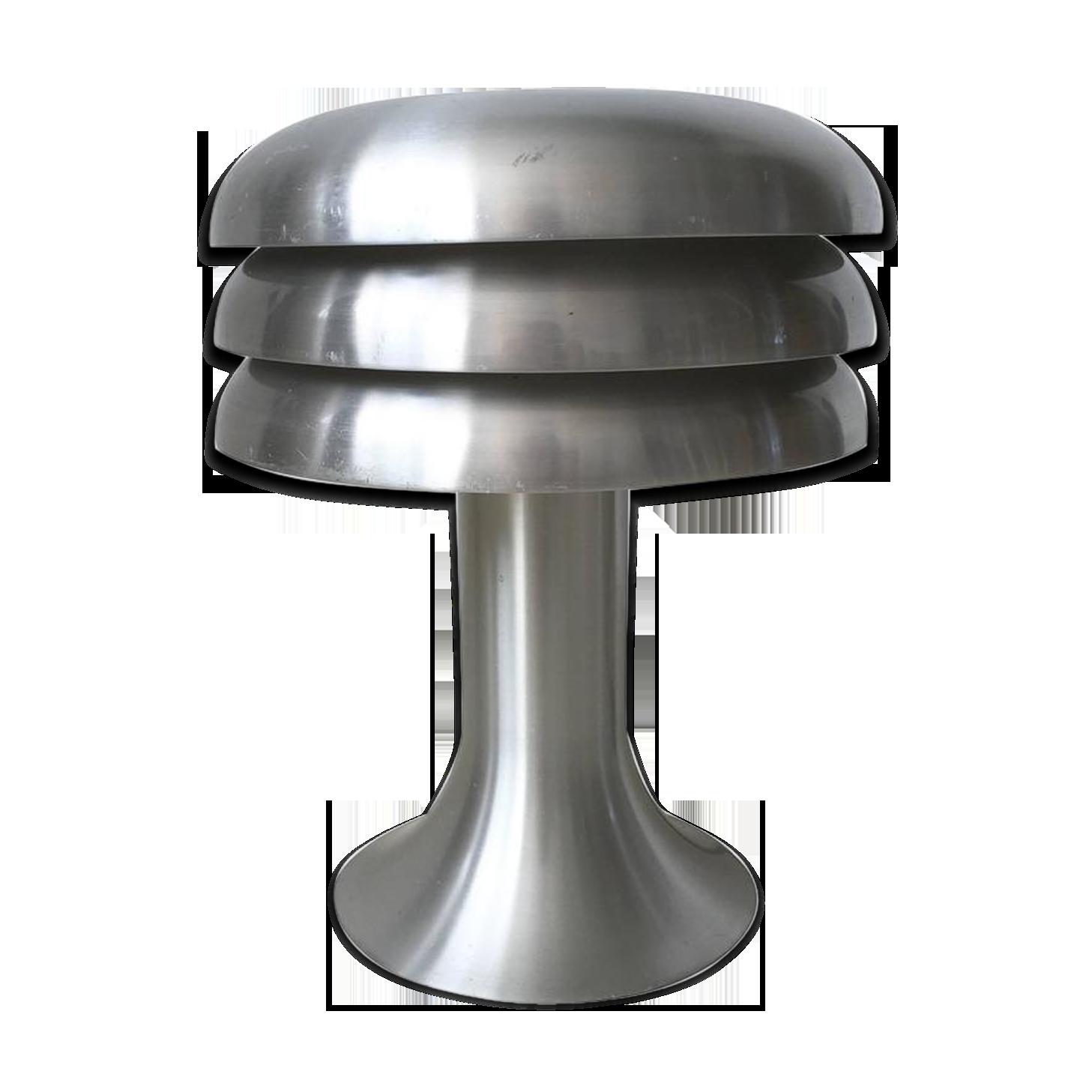 Lampe de bureau en aluminium brossé par hans agne jakobsson modèle