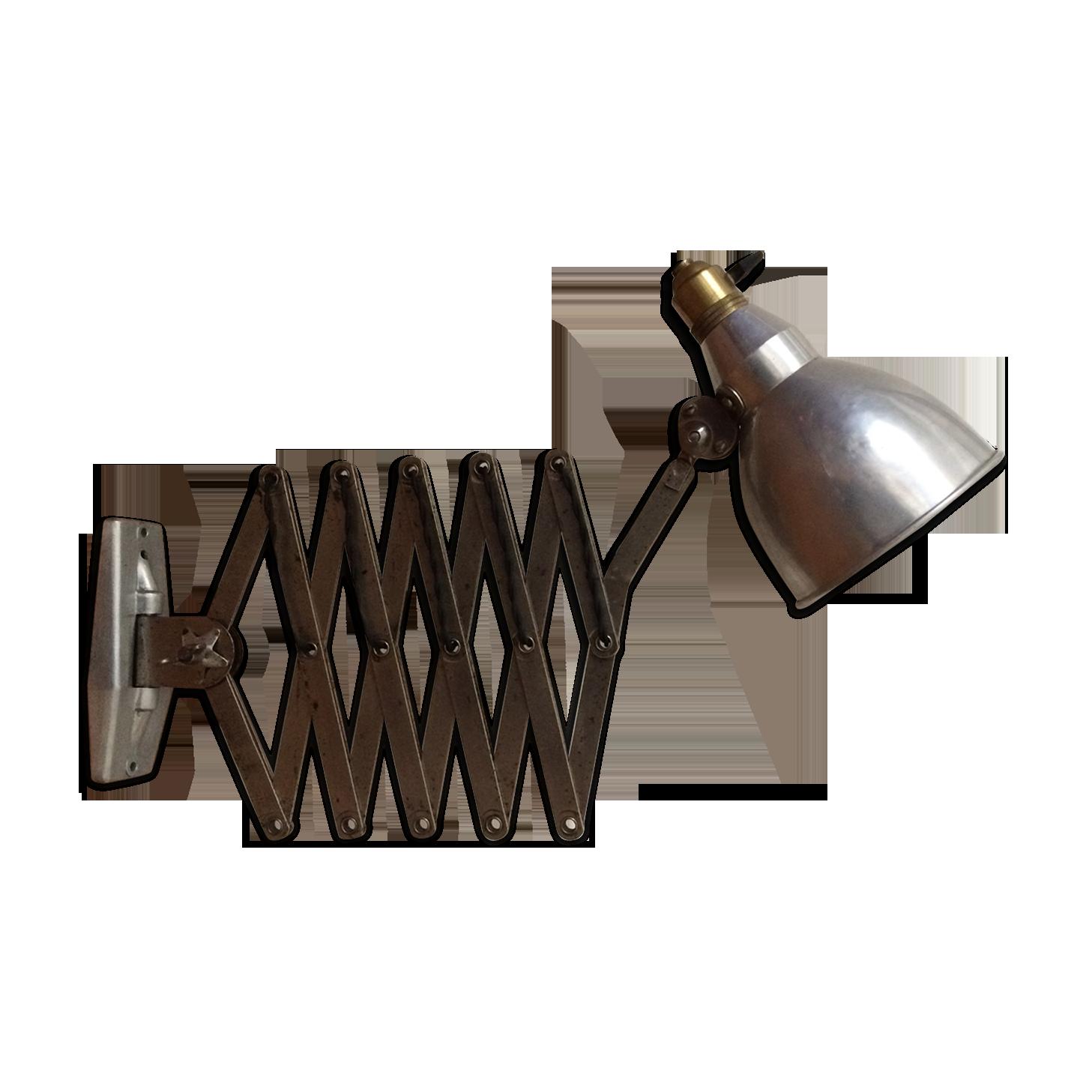 Applique scissors lamp mazda accordion workshop metal