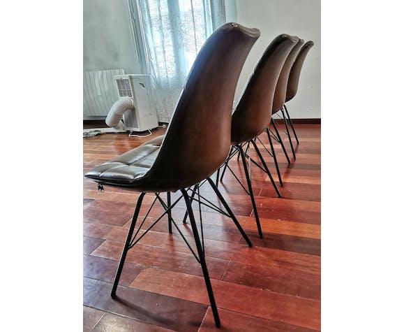 Chaises contemporain en cuir