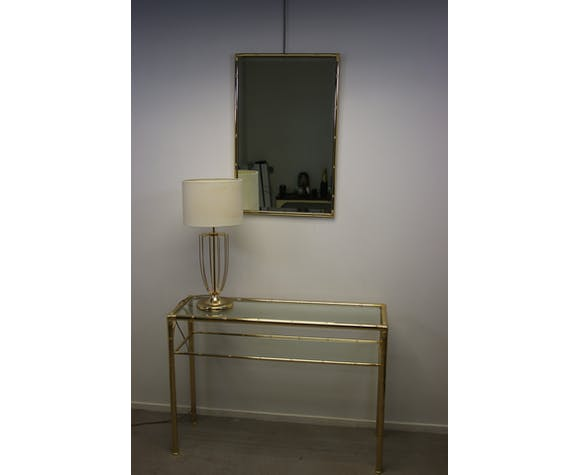 Mirror Gold Plated Hollywood Regency