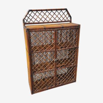 Closet, shelves, rattan, vintage, 60s