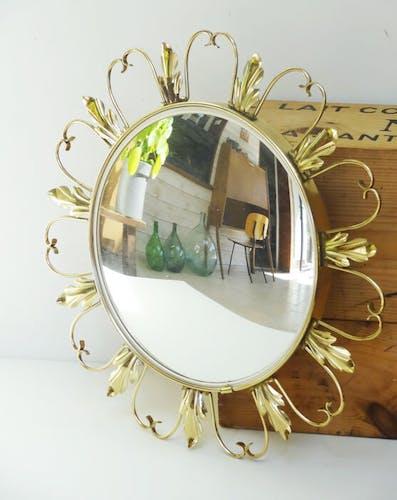 Miroir fleur oeil de sorcière - 45cm