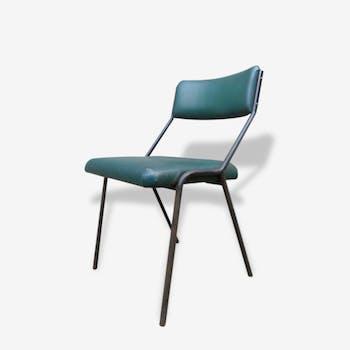 Chaise en skaï vert