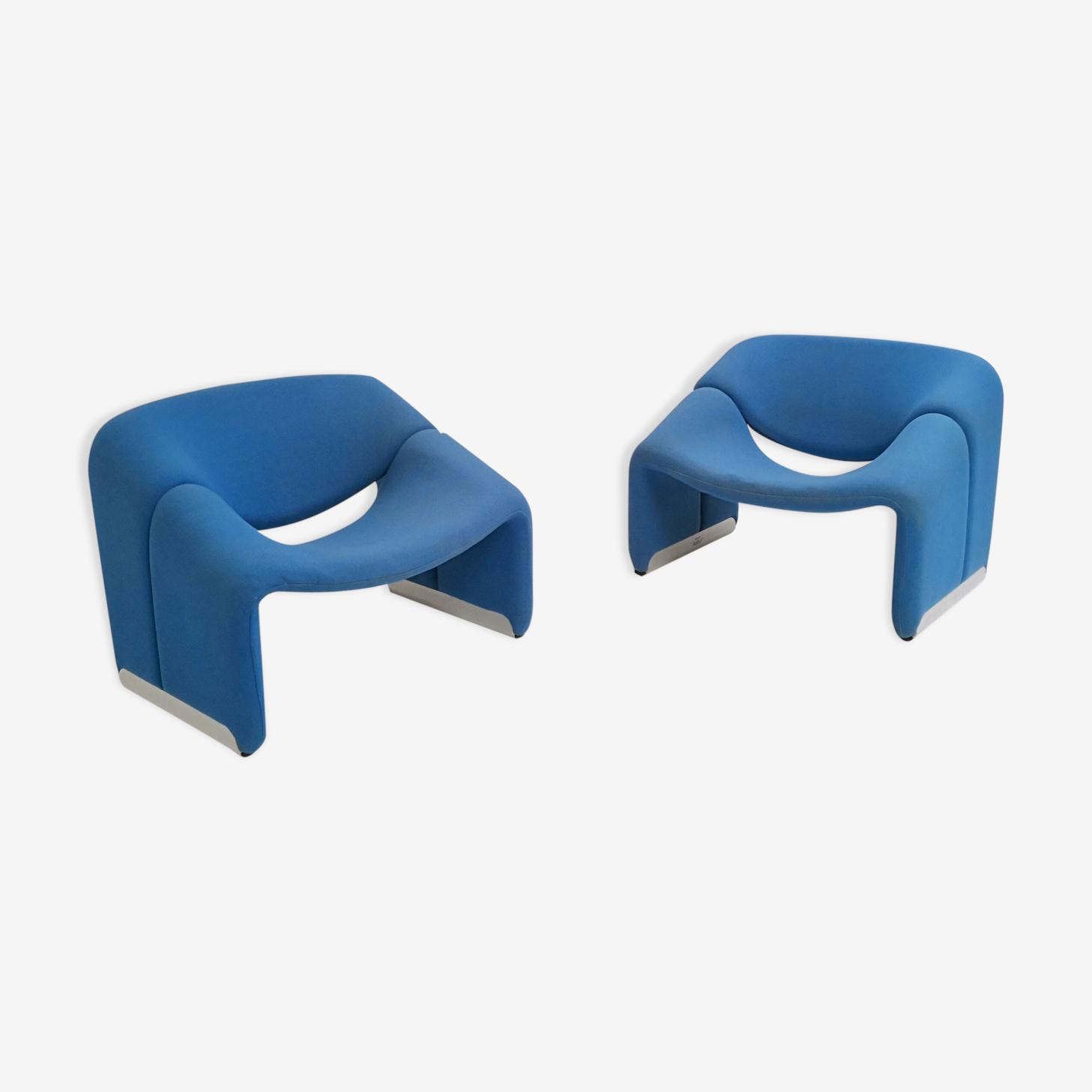 """Paire de fauteuils F598 """"Groovy"""" Pierre Paulin pour Artifort"""