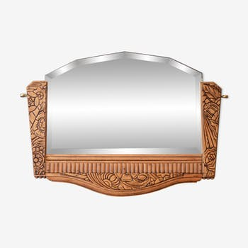 Wood Art Deco mirror