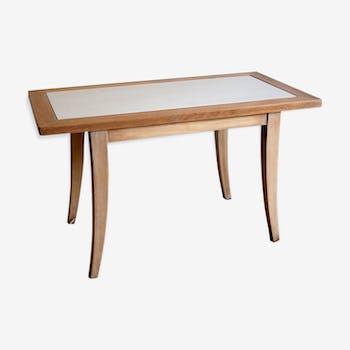 Coffee table in natural beech - circa 50