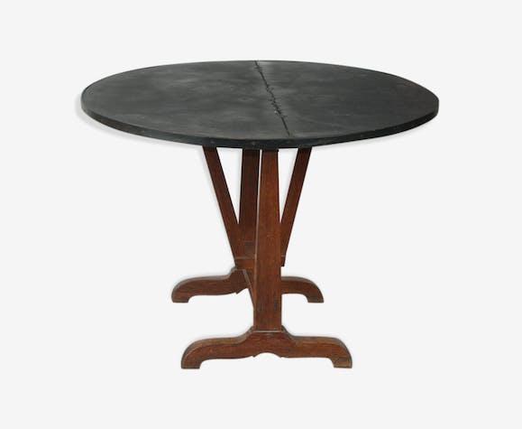 Table ronde de vigneron pliable