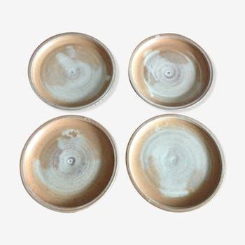 Set of 4 plates in sandis