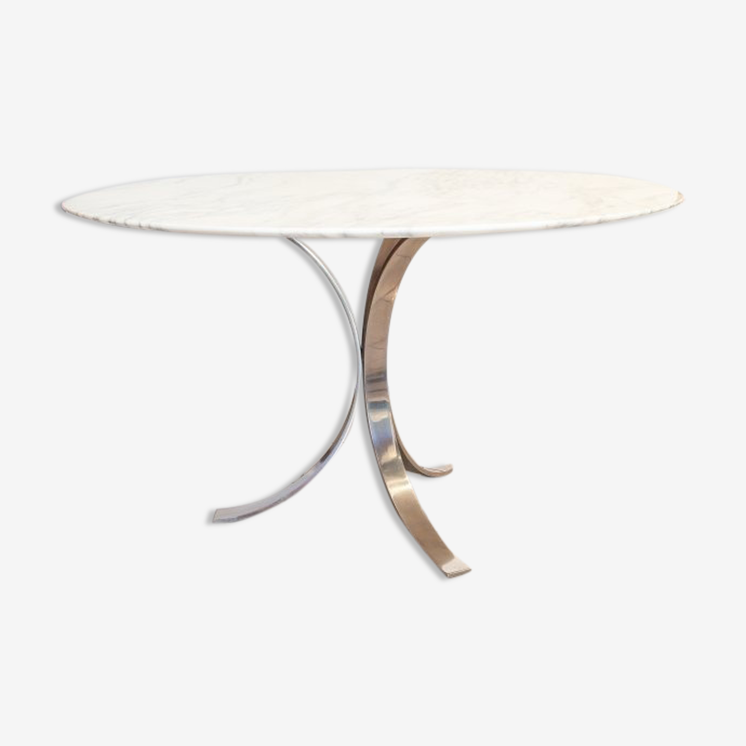 Marble glass round table