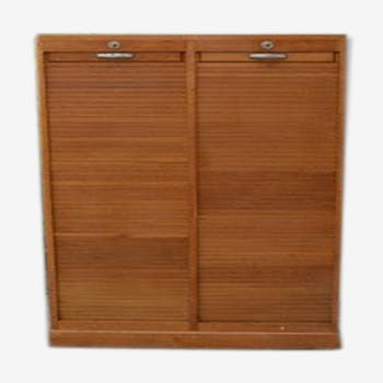 Curtain double filing cabinet