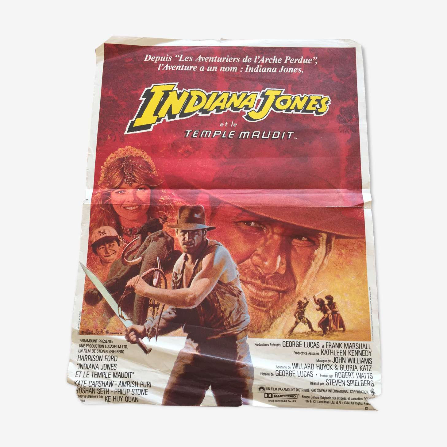 Poster Indiana Jones and the cursed Temple 1984