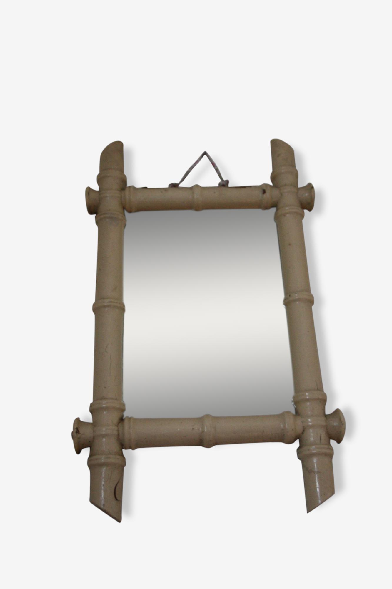 Petit miroir bambou