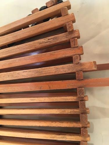 Cut fruit in bamboo wood folding 60s