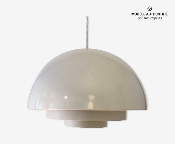 Suspension Medio blanche par Jo Hammerborg pour Fog & Morup Danemark 1970
