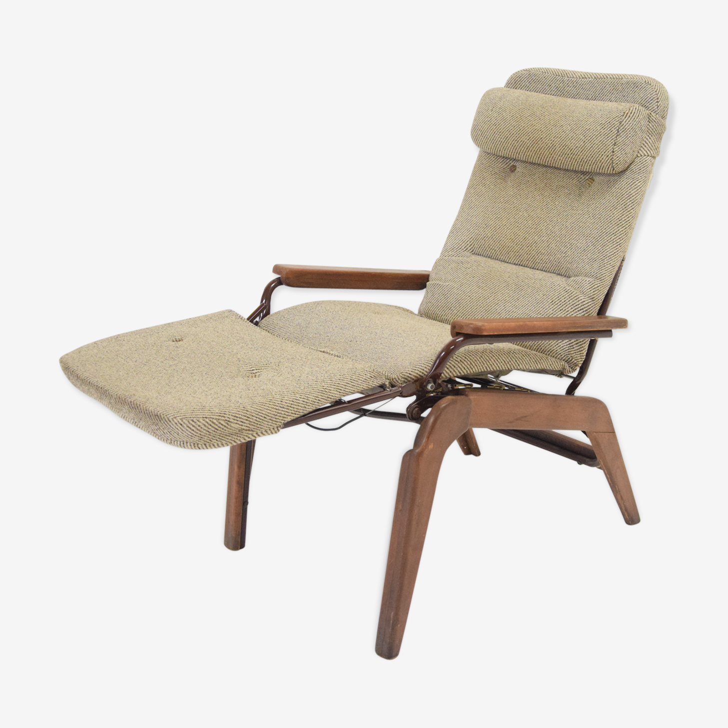 Relaxed recliner armchair from the 60/70s from Lama