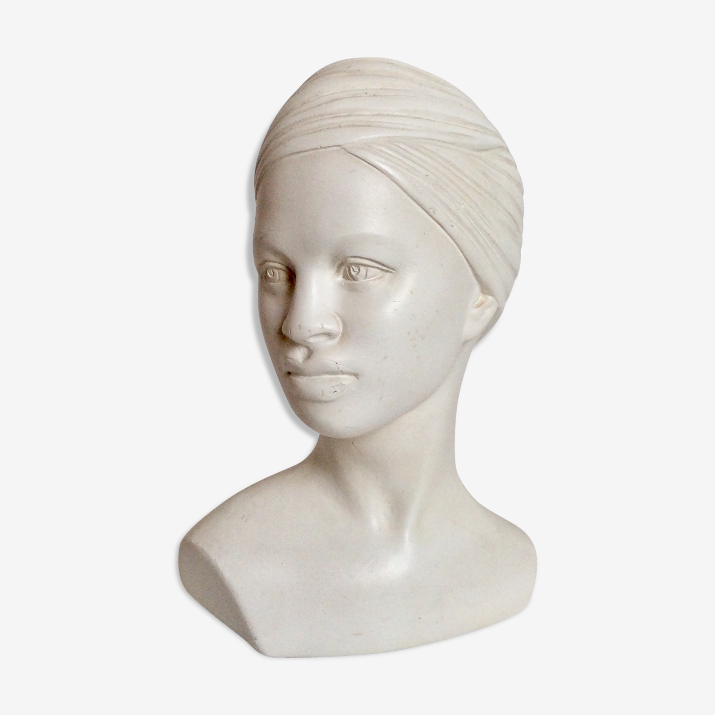 Plaster bust of woman