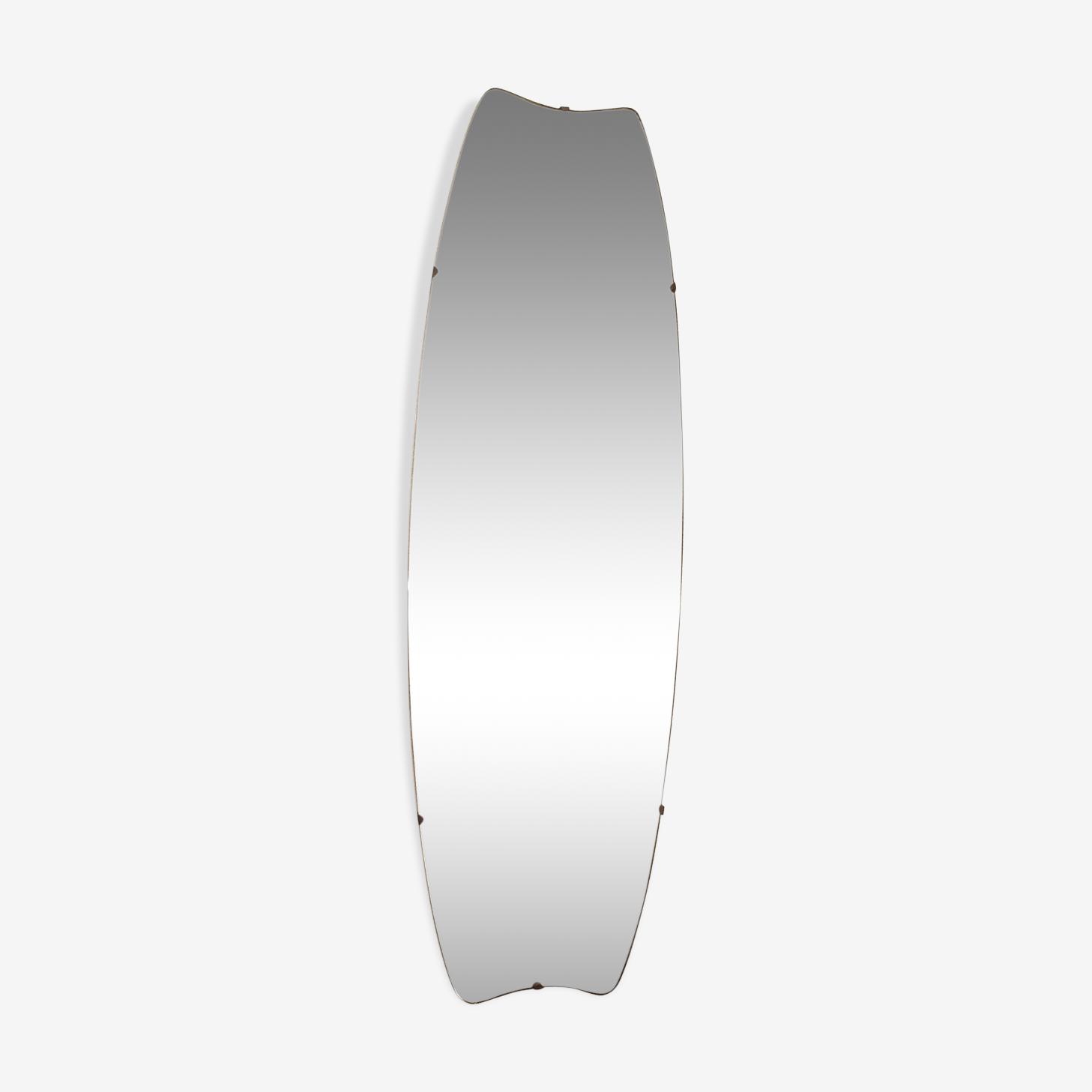 Large beveled mirror free form 99x28cm