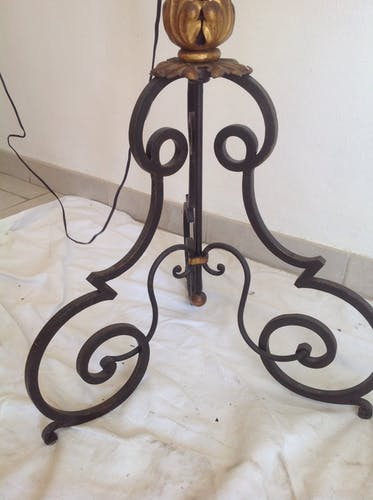 Lamppost in wrought iron