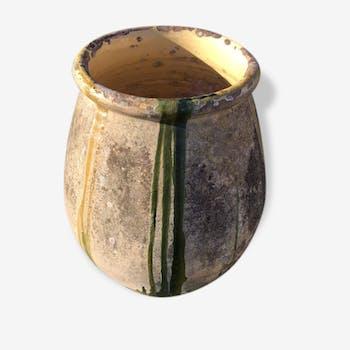 Grande jarre vernissée ancienne du sud de la france