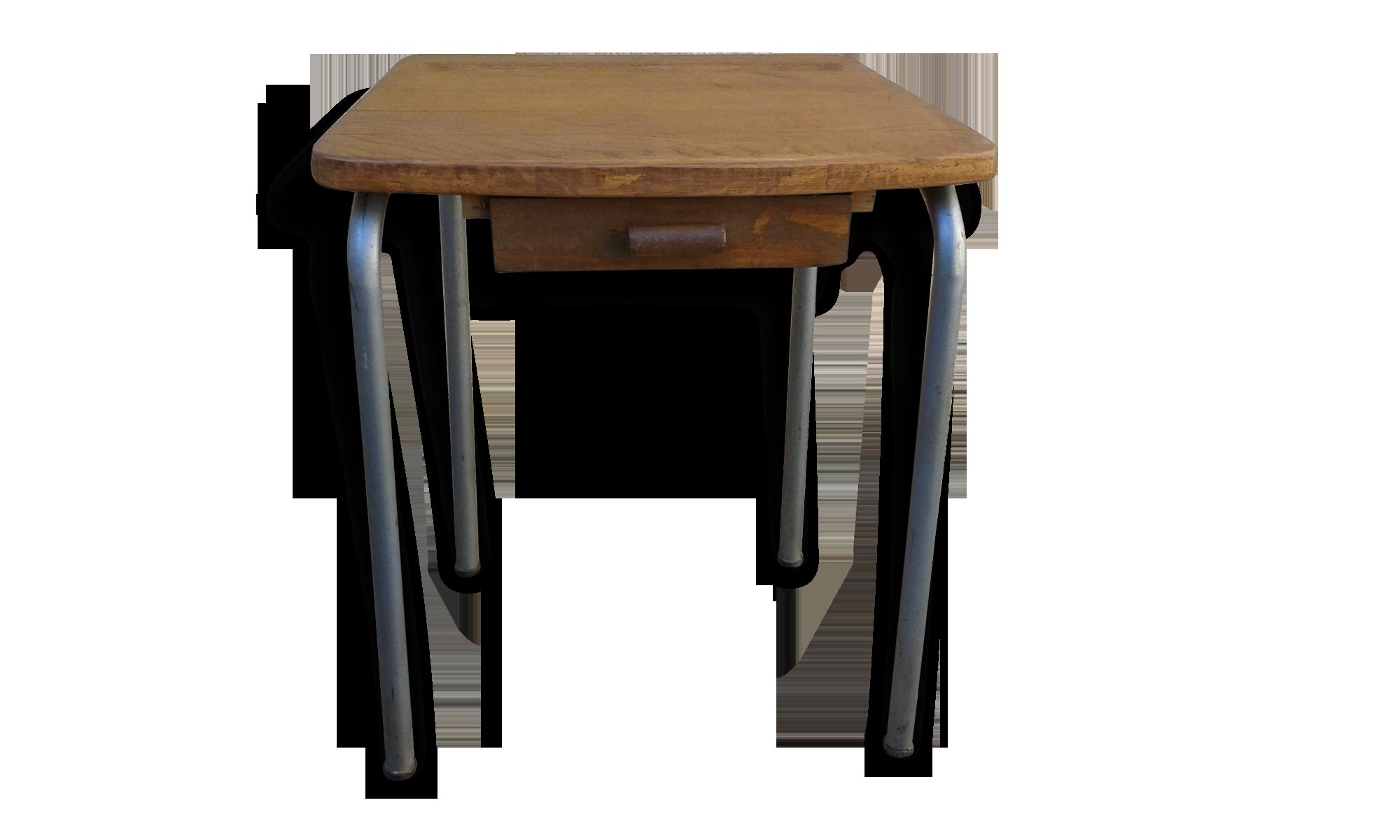 Petit bureau fer et bois bois matériau bois couleur