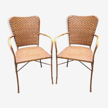 Pair of 80s garden chairs