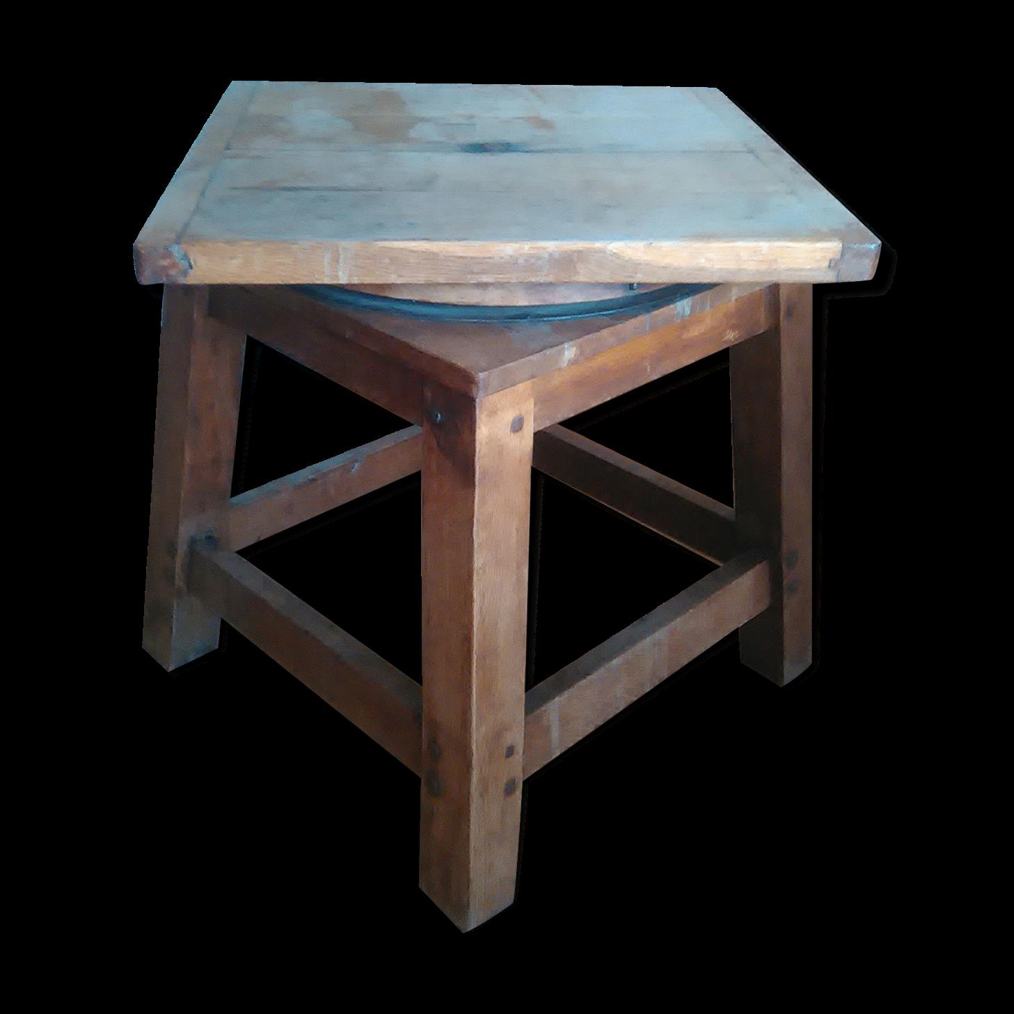 table ronde teck plateau tournant perfect table sophie en eucalyptus finition imitation teck. Black Bedroom Furniture Sets. Home Design Ideas